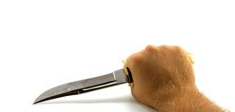нож звероловства руки стоковая фотография