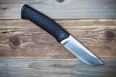 Нож звероловства с черной ручкой Стоковое Изображение RF