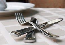Нож и вилка Стоковое фото RF