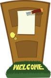 Нож и дверь Стоковое фото RF