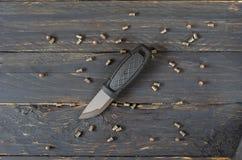Нож и много малые патроны Стоковая Фотография