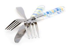нож кухни вилки Стоковое Изображение RF