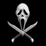 Нож клекота страшный Стоковая Фотография