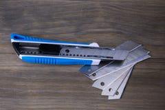 Нож резца и запасные лезвия Стоковое фото RF