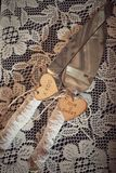 Нож свадьбы и сервер торта Стоковое Изображение