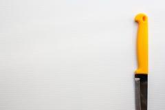 Нож с желтой ручкой Стоковое Фото