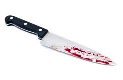 Нож шеф-повара с кровью капания Стоковая Фотография RF