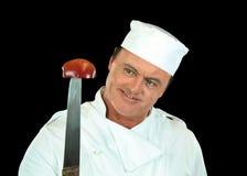нож шеф-повара яблока Стоковое фото RF