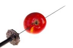 нож яблока Стоковое Фото