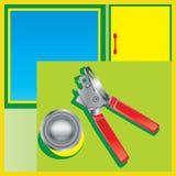 Нож для вскрытия консервных банок Стоковое фото RF