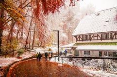 Нойшванштайн около Fussen в Баварии, Германии Стоковая Фотография