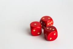 1,2,3 номера дальше dices на белизне Стоковая Фотография RF