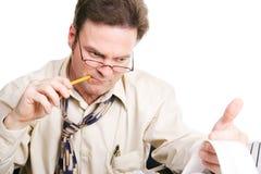 Номера бизнесмена или бухгалтера идущие Стоковые Изображения RF