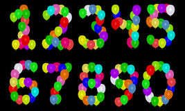номера воздушного шара Стоковое Изображение
