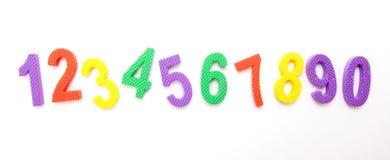 Номера выровнянные вверх Стоковая Фотография