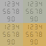 Номера высекаенные камнем цифровые Стоковые Изображения RF