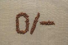 Номера вычеркивают от кофейных зерен Стоковые Фотографии RF