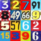 Номера в других цветах стоковая фотография rf