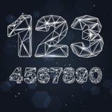 Номера созвездия геометрические Стоковая Фотография RF