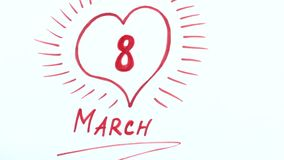 Номера дня и календаря ` s женщин акции видеоматериалы