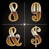 Номера западных писем алфавита градиента винтажные конструируют вектор бесплатная иллюстрация