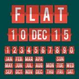 Номера и алфавит часов календаря сальто Стоковая Фотография