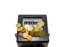 13 номера и метра электричества и европейских валюты Стоковое Изображение RF