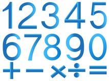 Номера и символы математики Стоковое Изображение RF