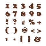 Номера и символы шоколада Стоковое фото RF