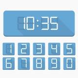 Номера и часы цифров Стоковое Фото