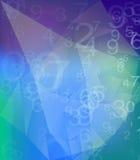 номера иллюстрации предпосылки 3d представили Стоковое Изображение