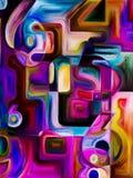 номера иллюстрации предпосылки 3d представили Стоковая Фотография