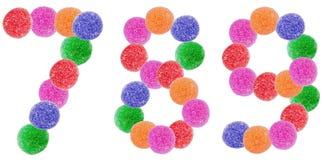 Номера конфеты студня Стоковые Фотографии RF