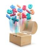 номера коробки treasure деревянное Стоковые Изображения