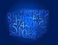 номера кубика иллюстрация вектора