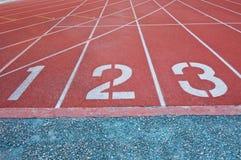 Номера майны следа атлетики Стоковые Фото