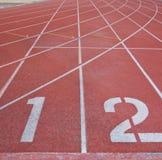 Номера майны следа атлетики Стоковое фото RF