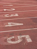 Номера майны следа атлетики Стоковое Фото