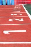 Номера майны следа атлетики красные Стоковое фото RF