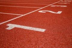 Номера майны следа атлетики Стоковые Изображения
