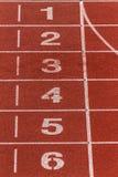 Номера майны следа атлетики Стоковая Фотография RF