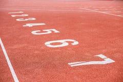 Номера майны следа атлетики Стоковое Изображение