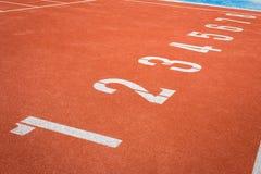 Номера майны следа атлетики Стоковые Изображения RF