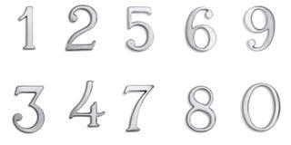 номера металла Стоковое фото RF