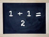 Номера написанные на черной доске мела Стоковое фото RF