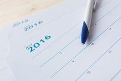 номера на странице календаря Стоковая Фотография RF