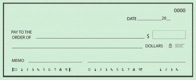номера незаполненного чек ложные иллюстрация штока