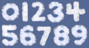 номера облака Стоковые Фотографии RF