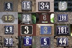 Номера дома стоковая фотография rf