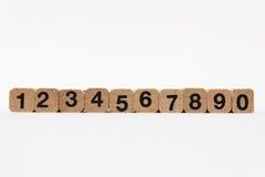 Номера, одно до 10 изолированные на белой предпосылке Стоковые Изображения RF